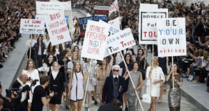 The Problem With Karl Lagerfeld's Feminist Protest At Paris Fashion Week