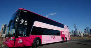 Megabus Goes Pink To Drive Awareness For The Breast Cancer Research Foundation During October
