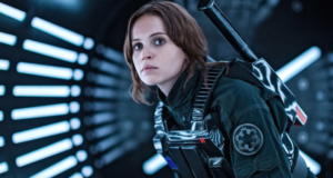 """Rogue One"" Star Felicity Jones On Playing A Non-Sexualized Female Lead Without A Male Love Interest"