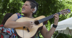 Maria Fernanda Gonzalez from Venezuela playing the Bandola | Image courtesy of Music Action Women Collective