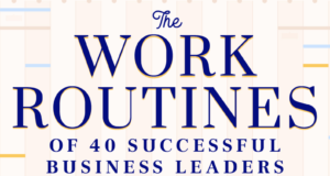 New Study Shows The Work Schedule & Habits Of 40 Successful People