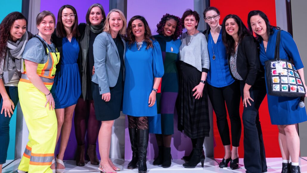 The FFFL team (Dr. Sophia Yen furthest to right) at the 2020 SheEO Summit.